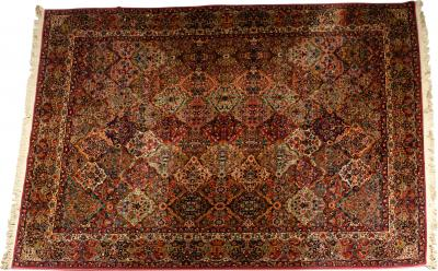 Handmade North American Wool Knotted Rug