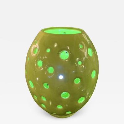 Handmade Yellow Egg Form Table Lamp