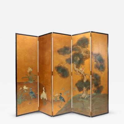 Handpainted Oriental Screen