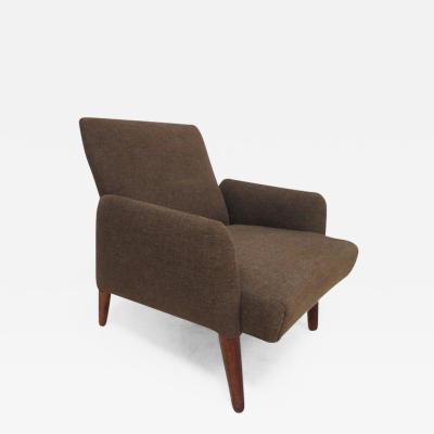 Handsome Teak Lounge Chair Mid Century Modern
