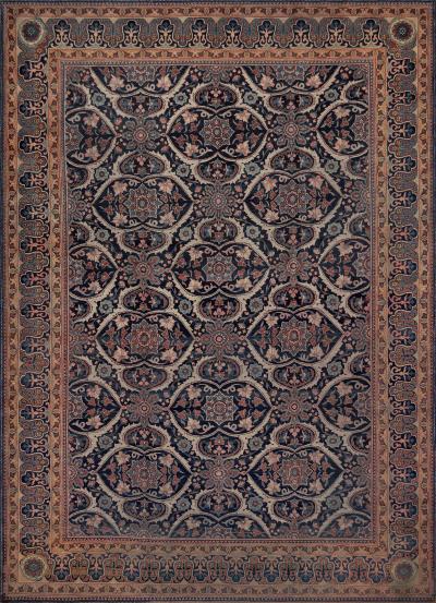 Handwoven Antique Persian Wool Tabriz Rug