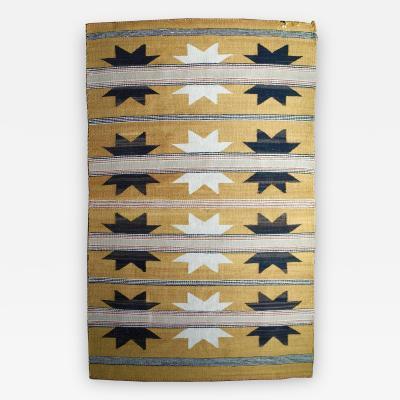 Handwoven Native American Navajo Wool Rug 1930s