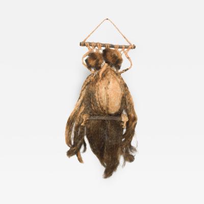 Hanging OWL Wall Art Sculpture Natural Fiber Organic Modern 1970s