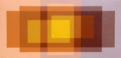 Hannes Beckmann Color Study for Double Shadows over Yellow