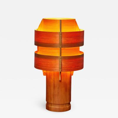 Hans Agne Jakobsson 1960s Hans Agne Jakobsson Model 243 Wood Table Lamp for AB Ellysett