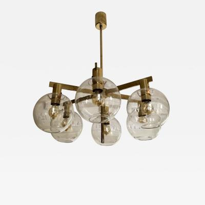 Hans Agne Jakobsson Hans Agne Jakobsson Brass Chandelier with Six Lights