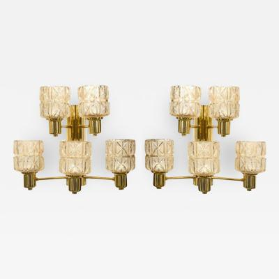 Hans Agne Jakobsson Hans Agne Jakobsson Brass and Crystal Sconces