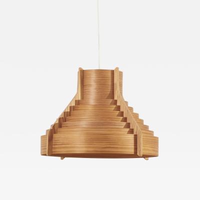 Hans Agne Jakobsson Huge Wooden Pendant Lamp by Hans Agne Jakobsson for AB Ellysett Markaryd Sweden