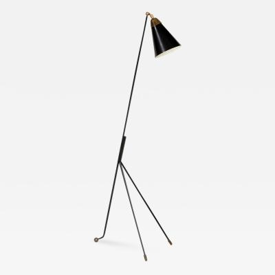 Hans Agne Jakobsson Lacquered Tripod Floor Lamp