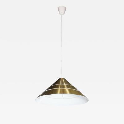Hans Agne Jakobsson Mid Century Brass Cone Ceiling Pendant by Hans Agne Jakobsson