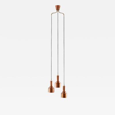 Hans Agne Jakobsson Scandinavian Mid Century Pendants Model T292 in Copper by Hans Agne Jakobsson