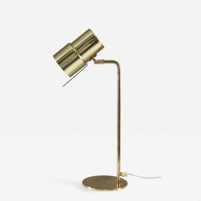 Hans Agne Jakobsson Scandinavian Table Lamp in Brass Model B 195 by Hans Agne Jakobsson