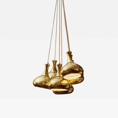 Hans Agne Jakobsson Seven Hans Agne Jakobsson Vintage Brass Pendants