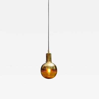 Hans Agne Jakobsson Small Brass and Tinted Glass Pendants by Hans Agne Jakobsson