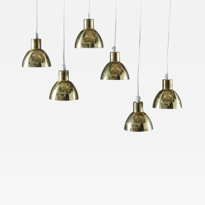Hans Agne Jakobsson Small Pendants Flora in Perforated Brass by Hans Agne Jakobsson