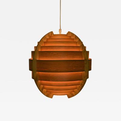 Hans Agne Jakobsson Swedish Ellysett Pine Sphere Pendant Lamp Designed by Hans Agne Jakobsson 1960 s