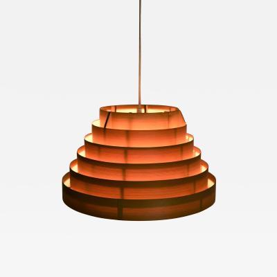 Hans Agne Jakobsson Swedish Pine Pendant Lamp Ellysett Model T454 Designed By Hans Agne Jakobsson