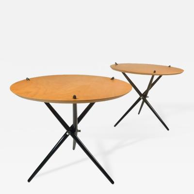 Hans Bellmann Pair of Early Knoll Tripod Tables