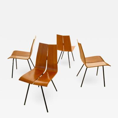 Hans Bellmann Set of Four Hans Bellman G A Model Chairs circa 1955 Switzerland