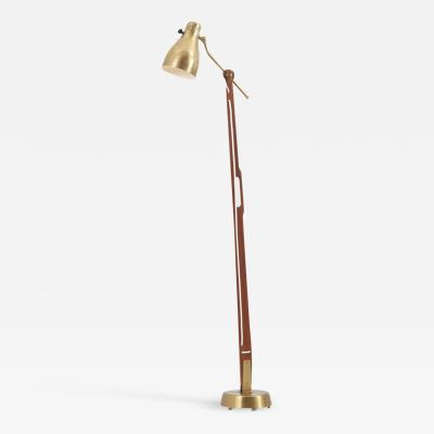 Hans Bergstr m Floor Lamp Model 544 by Hans Bergstr m for Atelj Lyktan Sweden 1950s