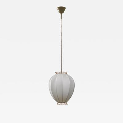 Hans Bergstr m Hans Bergstrom fabric and brass pendant lamp