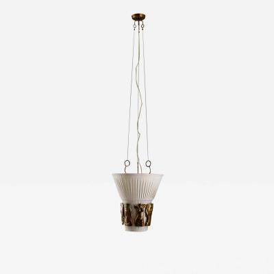 Hans Bergstr m Swedish Ceiling Lamp by Hans Bergstr m for Atelj Lyktan 1940s
