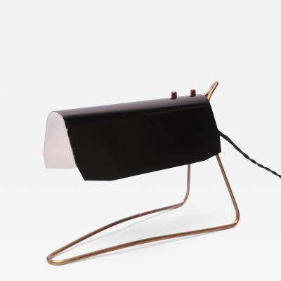 Hans Bergstr m Swedish Modern Black Metal and Brass Table Lamp