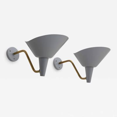 Hans Bergstr m Swedish Wall Lamp in Brass and Metal by Hans Bergstr m for Atelj Lyktan