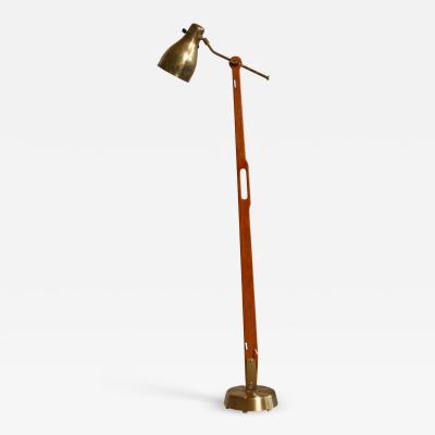 Hans Bergstrom Hans Bergstr m floor lamp for Lyktan Sweden 1940s