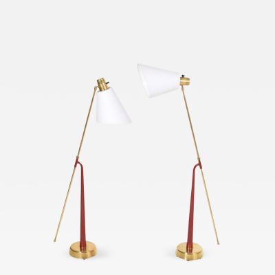 Hans Bergstrom Pair of Floor Lamps by Hans Bergstrom for Atelj Lyktan