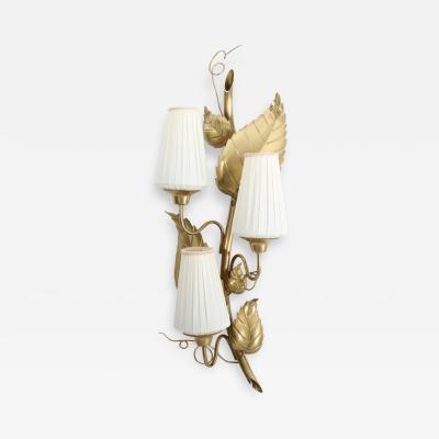 Hans Bergstrom Swedish Wall Lamp Rankan in Brass by Hans Bergstr m for Atelj Lyktan
