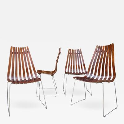 Hans Brattrud Midcentury Scandia Chairs by Hans Brattrud for Hove Mobler