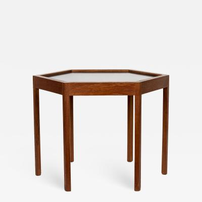 Hans C Andersen Mid Century Danish Modern Teak Hexagon Side Table Hans C Andersen