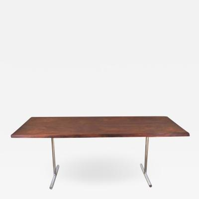 Hans Eichenberger Omega dining table in rosewood chrome attributed to hans eichenberger
