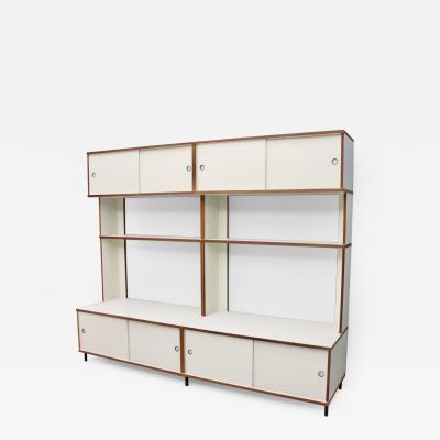 Hans Gugelot Rare Free Standing Shelf System M125 by Hans Gugelot Germany 1956