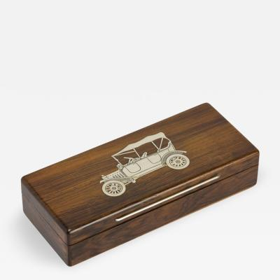 Hans Hansen Cigarette Box with Sterling Silver Inlays