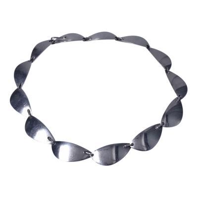 Hans Hansen Sterling Silver Necklace Denmark C 1968