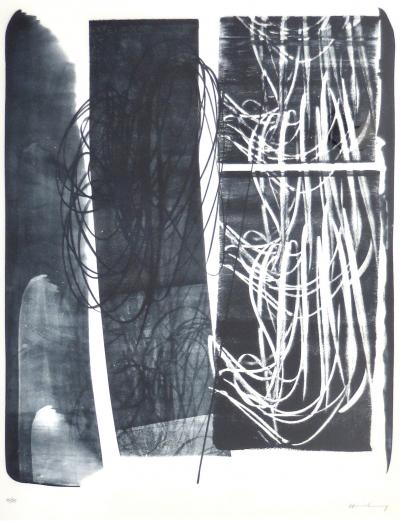 Hans Hartung Lithograph Edited by Galerie de France