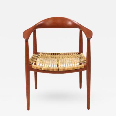 Hans J Wegner Hans J Wegner Round Caned Arm Chair for Johannes Hansen