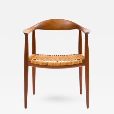Hans J Wegner Hans J Wegner Round Chair in Teak with Cane Seat