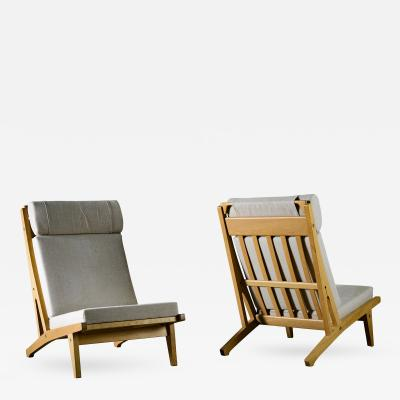 Hans J Wegner Hans Wegner Lounge Chairs Model GE 375
