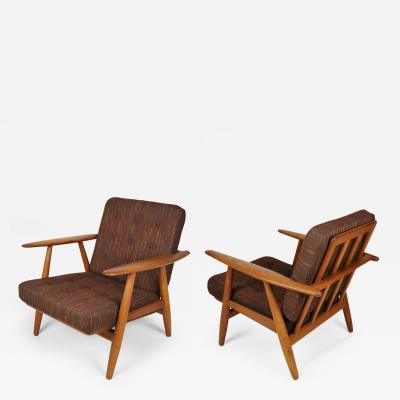 Hans J Wegner Pair of Hans Wegner GE 240 Chairs