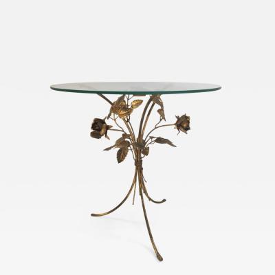 Hans K gl Flower Gilt Metal Side Table by Hans K gl 1960s