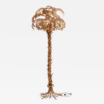 Hans K gl Huge Vintage Golden Palm Tree Floor Lamp by Hans K gl circa 1980s