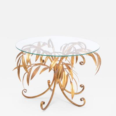 Hans K gl Mid Century Golden Palm Tree Side Table by Hans K gl 1960s