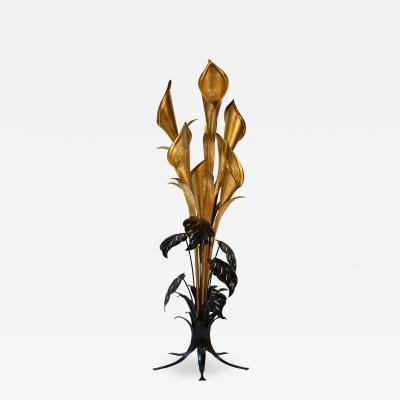 Hans K gl Midcentury Floor Lamp by Hans K gl with Huge Tropical Flowers
