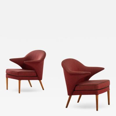 Hans Olsen Easy Chairs Produced in Denmark