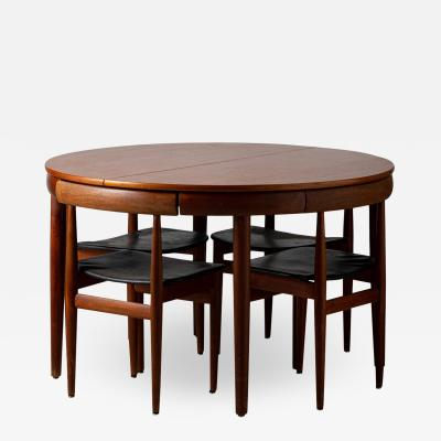 Hans Olsen Hans Olsen Frem R jle editor table and four chairs Denmark 1950