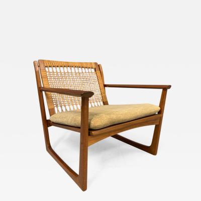 Hans Olsen Hans Olsen Teak and Cane Lounge Chair for Juul Kristensen Midcentury