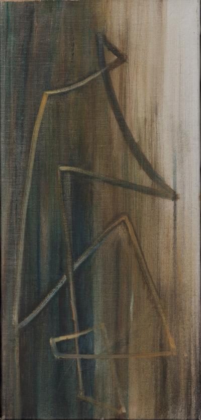 Hans Richter An Abstract Painting by Hans Richter Oil on Canvas